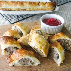 Homemade Sausage Rolls - flaky, buttery puff pastry and sausage with sage and onion. So quick and easy to make at home!