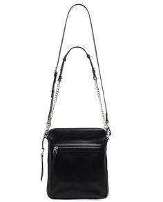 Women's Black Leather Satchels & Crossbody bags PERCEY L | RUDSAK