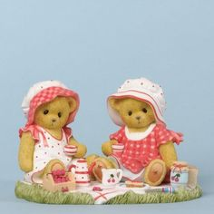 Cherished Teddies Abigail and Amelia On Picnic Every Day Sweet 2013