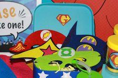 Retro Superhero Birthday Party Ideas | Photo 10 of 16 | Catch My Party