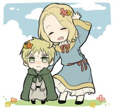 Hetalia (ヘタリア) - little France & little England