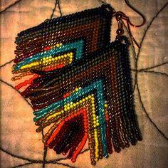 #brickstitch #delicas #earrings #miyuki #perles