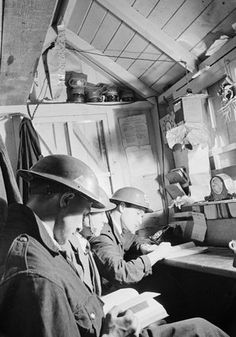 Beaton, Cecil -- ARP WARDENS IN A HUT -- High quality art prints, canvases -- Imperial War Museum Prints