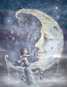 ☽☽ ℓa ℓuna ☾☾ <3 #biblioteques_UVEG Sweet Pictures, Moon Pictures, Moon Images, Sun Moon Stars, Sun And Stars, Moon Face, Photo D Art, Good Night Moon, Beautiful Moon