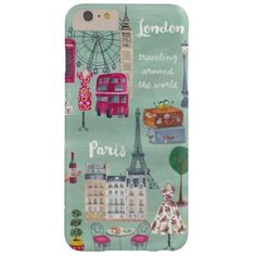 Travel map London Paris | Iphone 6 plus Case
