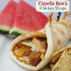 Easy Crisp Chicken Wraps with Chipotle Ranch Dressing Recipe #ChickenFryTime #cbias