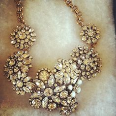 J Crew necklace - I could totally make this out of all my vintage pins...and plan to
