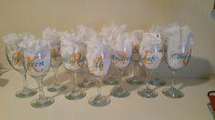 Hen's Day Wine Glasses Vinyl Designs, Hens, Wine Glass, Invitations, Glasses, Tableware, Prints, Revenge, Eyeglasses