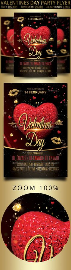 654 best Valentine\u0027s Flyer Templates images on Pinterest