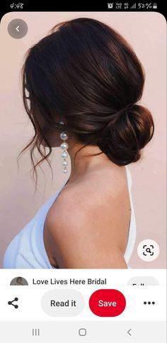 Bridesmaid Hair Updo, Bridal Hair Updo, Wedding Hair And Makeup, Bridesmaid Hair Brunette, Simple Bridesmaid Hair, Bridesmaids, Prom Hairstyles For Short Hair, Wedding Hairstyles For Long Hair, Bride Hairstyles
