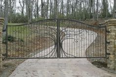 A fancy driveway gate.