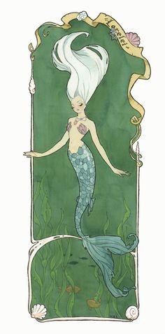 Mermaid Lorelei (large) by *Maryanneleslie on deviantART