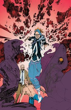 ANIMAL MAN #7  Written by JEFF LEMIRE  Art by TRAVEL FOREMAN and STEVE PUGH  Cover by TRAVEL FOREMAN - W.B.