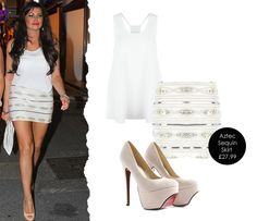 Get the look of Jess Wright with our Premium Aztec Sequin Skirt £27.99  http://www.missguided.co.uk/premium-aztec-sequin-skirt-5