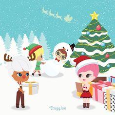 메리크리스마스~~~✨✨즐거운 성탄절 보내세요~~_팅글리 올림 Merry Christmas~~ from TingGlee . #tingglees #tingglee #merrychristmas #christmas #character #design #fairy #sweet #sweets #christmastree #snow #whitechristmas #santa #크리스마스 #화이트크리스마스 #크리스마스트리 #팅글리 #요정 #캐릭터 #디자인 #그래픽 #스윗한요정 #산타클로스