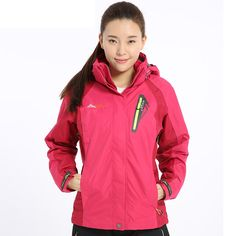 69.00$  Watch now - http://alimj0.worldwells.pw/go.php?t=2020048085 - Winter Outdoor Ski Snowboard Jacket Women Windbreaker Hiking Clothing Suit Outerwear Waterproof Coat Clothes