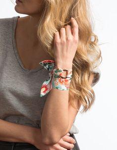 Oscar de La Renta silk cuff bracelet by Silk Philosophy.