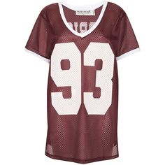 Airtex Tee By Project Social T ($50) ❤ liked on Polyvore featuring tops, t-shirts, shirts, danielle tops, burgundy, relaxed tee, red t shirt, relaxed fit t shirt, red top and burgundy top