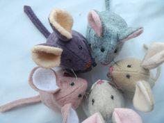 Mouse Softie in wool felt pattern PDF 4 inch by Memorylanepatterns, $4.40