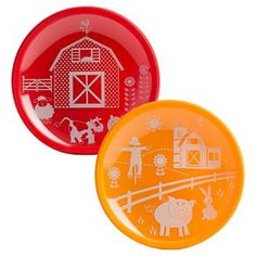 Brinware Barn Yard Tempered Glass and Silicone Plate - Set of 2