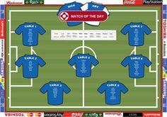 Football Table Plan for Wedding. @weddingvillage #weddings #weddingvillage