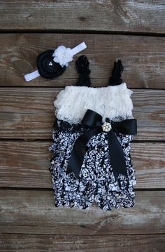 Girls first birthday outfit. Lace Romper Girls by KadeesKloset