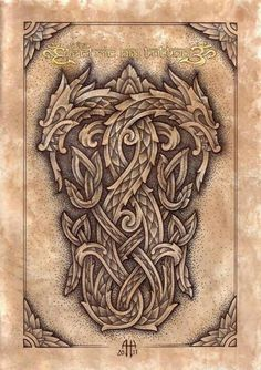 by Ash Harrison - Celtic Knotwork Dragons pencil,pen on paper - digital back ground Celtic Knotwork Dragons Arte Viking, Viking Art, Celtic Dragon Tattoos, Viking Tattoos, Viking Dragon Tattoo, Celtic Patterns, Celtic Designs, Body Art Tattoos, Cool Tattoos