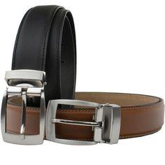 Nickel Smart The Specialist Brown Belt Full Grain Leather Belt with Nickel Free Carbon Fiber Beep Free Buckle