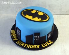It's a Batman Cake!  Made by my friend, the lovely and talented Rose Hawley Atwater.