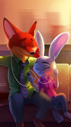 Zootopia nick and judy<br> Zootopia Anime, Zootopia Comic, Arte Disney, Disney Art, Zootopia Nick And Judy, Images Disney, Disney Phone Wallpaper, Character Wallpaper, Cute Cartoon Wallpapers