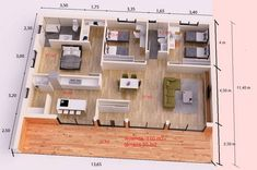 3d House Plans, Indian House Plans, Dream House Plans, Modern House Plans, Small House Plans, Modern Small House Design, Simple House Design, Three Bedroom House Plan, Architectural House Plans
