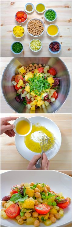 Salată de năut cu mango și roșii. Vezi rețeta și comandă pe http://realfoods.ro/ucook | Livrare 22-27 mai 2017