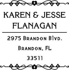 Flanagan Heart Deco Address Stamp