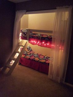 Bunk beds in the closet!  Perfect for my bratty kids!!!!