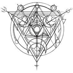 Resultado de imagem para mystic symbols tattoo