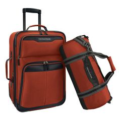 U.S. Traveler by Traveler's Choice 2-piece Carry-on Rolling Upright and Duffel Bag Luggage Set