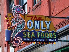 """""""The Only"""" Sea Foods Cafe  21 East Hasting St. Vancouver, BC  has occupied the same block in the downtown east side for over 90 years.  At one time this stretch of Hastings St. was the heart of Vancouver's commercial district, and there awee many great neon signs in the area. Now, it is in the heart of the Downtown Eastside, the poorest neighbourhood in Canada, and only a few of the signs remain."""