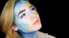 18 Year Old Erin Timony Painted a Van Gogh on Her Face - Sfx Makeup, Costume Makeup, Beauty Makeup, Van Gogh, Makeup Inspo, Makeup Inspiration, Makeup Ideas, Make Up Designs, Hobbies For Women