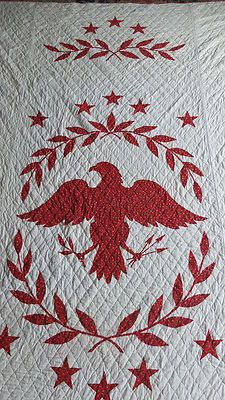 Antique Federal Eagle quilt detail  @TheDailyBasics ♥♥♥ #4thofJuly #patriotic
