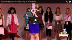 Using a rasberry pi with scratch and soft circuits. . . TED talk with class of 7th grade girls. . . http://www.adafruit.com/blog/2013/04/08/how-girls-should-serve-raspberry-pi-tom-dubick-at-tedxcharlotteed/