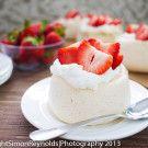 Individual fresh berry Pavlova