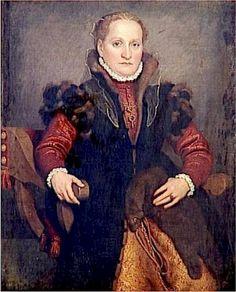 Giovanni Battista Moroni (Italian, 1520-1578) - Portrait of Angelica Agliardi de Nicolini, circa 1560