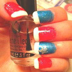 easy 4th of july nails