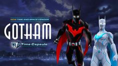 See what's new in the Gotham Time Capsule and new Time Capsule currency vendor! Dc Universe Online, Dc Comics Characters, Fictional Characters, Super Hero Shirts, Legend Games, Star Wars Light Saber, Batman Beyond, Time Capsule, Comic Character
