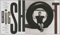 Big Shot spread. Rolling Stone by Fred Woodward.