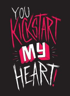 Kickstart my Heart 5x7 Folded Card