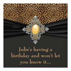 Leopard Womans Surprise 40th Birthday Party Card
