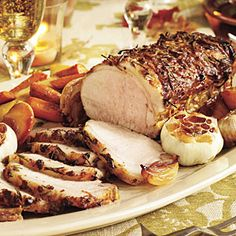 Rosemary-Garlic Pork. Have made this several times with pork roast and pork chops using fresh rosemary from our garden. Have not done the caramelized apples yet. Great Recipe.