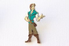 This Disney Pin for sale features full body Flynn Rider from Tangled, Rapunzel prince charming boyfriend. Guaranteed Authentic and Scrapper-Free. Earn reward points on every purchase, join the Rewards