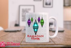 RAMADAN Kareem Islamic Mug Printed coffee mug Muslim Gift Ramadan Gifts, Ramadan Mubarak, Gifts In A Mug, Gifts For Kids, Gifts For Women, Umrah Mubarak, Ramdan Kareem, Mug Printing, Islamic Gifts